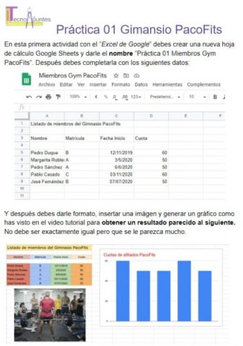 Práctica descargable Google Sheets